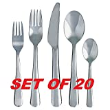 Ikea Dragon 20-Piece Flatware Set Stainless Steel