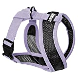 Gooby - Active X Head-in Harness, Choke Free Small Dog Harness with Synthetic Lambskin Soft Strap, Purple, Large