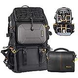 TARION Pro PB-01 Camera Bag Backpack with Shoulder Camera Case Bag 15.6' Laptop Compartment Rain Cover Waterproof Large Camera Hiking Backpack DSLR Bag