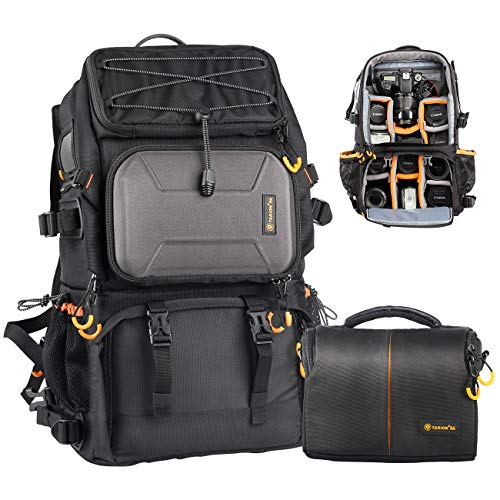 TARION Pro PB-01 Camera Backpack Large + Shoulder Camera Case with 15.6'...