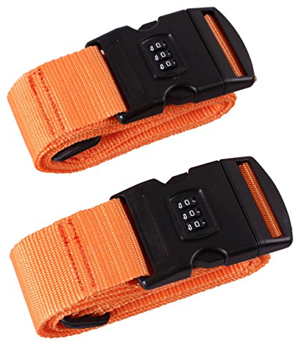 Cartman Luggage Straps Suitcase Belts Travel Bag Accessories 2Pack, 200cm 78inch