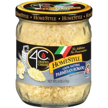 Expect More 4C HomeStyle Parmesan Romano Grated Cheese, 1 ct. / 6 oz