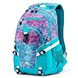 High Sierra Loop Backpack, Sequin Facets/Bluebird/White
