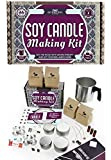 DIY Gift Kits Soy Candle Making Kit for Adults (49-Piece Set) DIY Starter Kit w/ Wax, Wicks, Tin Containers, Natural Essential Oils, Color Sticks | Creates Colorful, Large Candles