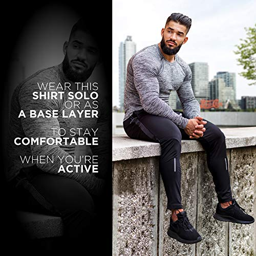 Kamo Fitness Long Sleeve Top - Baselayer That Will Keep You Warm & Active.Performance Fit & Quick-Drying Fabric. 3 Fashion Online Shop gifts for her gifts for him womens full figure