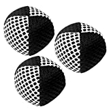 Speevers Xballs Juggling Balls Professional Set of 3 Fresh Design - 10 Beautiful Colors Available - 2 Layers of Net Carry Case - Choice of The World Champions (Black - White, 90g)