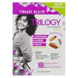 Vibrant Health - Trilogy for Women - A Multivitamin, Fish Oil, and Probiotic, 30 Packets