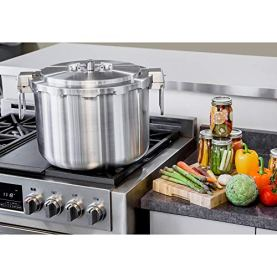 Buffalo-QCP435-37-Quart-Stainless-Steel-Pressure-Cooker-Pressure-Canner-Commercial-series-Pressure-Gauge-Steam-Pot-EXCLUDED-Optional-Accessories