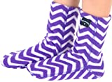 Polar Feet Kids' Fleece Socks (S (Kids' 7-8), Zigzag)