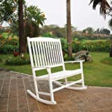 Mainstay` Outdoor Rocking Chair, (2-Person, White (Double Rocking))
