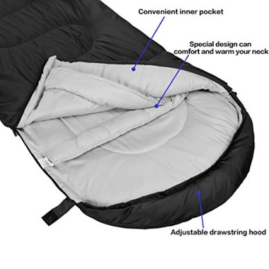 SOULOUT-Sleeping-Bag-4-Seasons-Warm-Cold-Weather-Lightweight-Portable-Waterproof-Sleeping-Bag-with-Compression-Sack-for-Adults-Kids-Indoor-Outdoor-Camping-Backpacking-Hiking