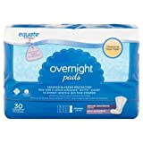 Equate Overnight Ultimate Absorbency Pads, 30 ct, 3pk