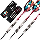 CUESOUL 24 Grams Tungsten Steel Tip Darts Set 90% Tungsten