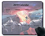 Flying Pig Man 2019 Calendar Pads,Space Astronaut Space Station 1 Gaming Mouse mat (Multi 11)