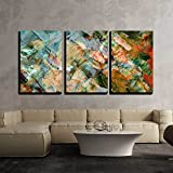wall26 - 3 Piece Canvas Wall Art - Picture, Oil Paints: Abstract Background, Hand Paintings - Modern Home Decor Stretched and Framed Ready to Hang - 24'x36'x3 Panels