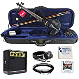 Bunnel EDGE Electric Violin Outfit (Jet Black)