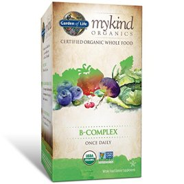 Garden of Life B Complex with Folate – mykind Organic Whole Food Supplement for Metabolism and Energy, 30 Tablets