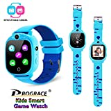 Prograce Kids Smartwatch with 90°Rotatable Camera Touchscreen Kids Watch Music Pedometer Flashlight Games FM Radio Kids Smart Watch Sports Watches Digital Wrist Watch for Boys