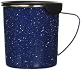 Copco 2510-0700 Tin Cup Camping Style Stainless Steel Coffee Mug with Lid, 16-Ounce, Dark Blue
