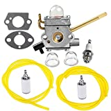 HIPA 308028007 Carburetor with Gasket Fuel Line Filter for Homelite UT08520 UT08550 UT08921 UT08951 26CC Blower