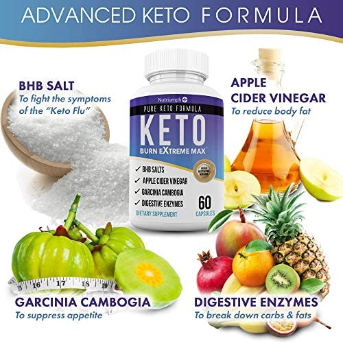 Keto Burn Extreme Max Fat Burner Diet Pills- Ketogenic Weight Loss for Women and Men- Ketosis Supplement with BHB Salts & Apple Cider Vinegar- 30 Day Supply 4