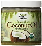 Primal Essence Organic Virgin Coconut Oil Naturally Infused with Whole-Plant Extracts (Italian Herb) 8 Ounce