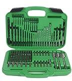 Hitachi 799962 120 Piece Drill Bit and Screwdriver Set, Impact, Spade, Masonry, Nut Drivers, Hard Plastic Case