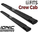 Ionic Voyager Plus Black Running Boards 2009-2014 Dodge Ram Crew Cab