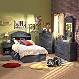 Product review for South Shore Summer Breeze Kids Antique Blue Twin Wood Captain's Bed 3 Piece Bedroom Set