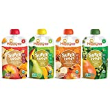 Happy Tot Organic Stage 4 Super Foods Variety Pack, 4.22 Ounce Pouch (Pack of 16) Green Beans/Pear/Pea, Sweet Potato/Apple/Carrot/Cinnamon, Apple/Butternut/Spinach/Mango/Pear (Packaging May Vary)