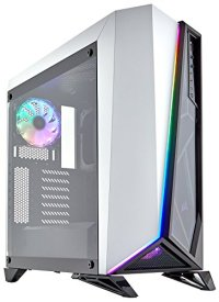 CORSAIR Carbide SPEC-Omega RGB Mid-Tower Gaming Case, 2 RGB Fans, Lighting Node PRO Included, Tempered Glass- White