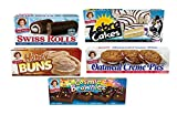 Little Debbie Variety Bundle - Oatmeal Creme Pies, Honey Buns, Swiss Rolls, Cosmic Brownies, and Zebra Cakes