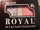 Royal Large Numbered Plastic Bridge Size Cards - Double Deck