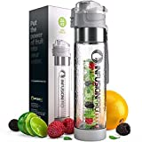 Infusion Pro Water Infuser Bottle - 24 oz Infused Water Bottle bpa Free   Premium Leak Proof Tritan Plastic with Bottom Infusing Design   Flip Top Locking Spout