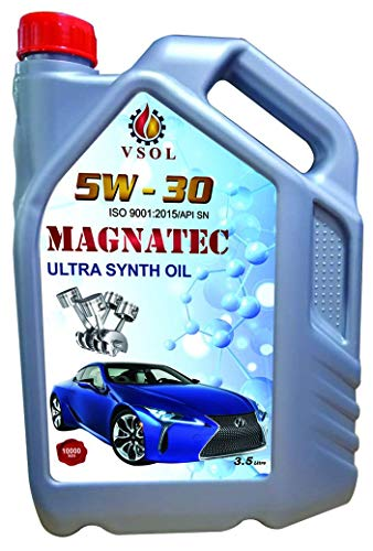 VSOL Megnatec Super High Performance Oil|5W 30 Fully Synthetic Petrol Engine Oil for car(3.5ltrs)