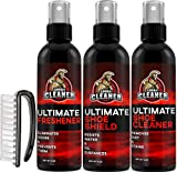 Ultimate Shoe Cleaner Kit By Combat Cleaner | Shoe Cleaner + Shoe Deodorizer Spray + Shoe Shield + Brush | Used for Sneakers, Tennis Shoes, Leather, Suede
