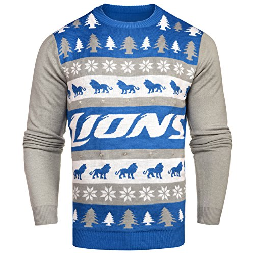 c031005351f NFL Detroit Lions Light-Up One Too Many Ugly Sweater