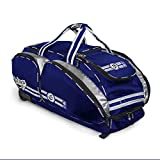 NO Errors NO E2 Catchers Bag with Fatboy Wheels - Wheeled Baseball Equipment Gear & Helmet Bags (Royal) (Renewed)