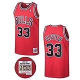 Mitchell & Ness Scottie Pippen Chicago Bulls NBA Throwback HWC Jersey - Red
