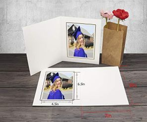 Golden-State-ArtAcid-Free-Cardboard-Photo-Folder-for-5x7-PicturePack-of-50-Paper-FramesIvory-with-Black-LiningGreat-for-Portraits-Special-EventsGraduations-WeddingsChirsmasBaby-Showers