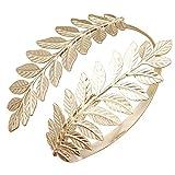 RechicGu Gold Tone Greek Roman Laurel Leaf Bracelet Armband Upper Arm Cuff Armlet Festival Bridal