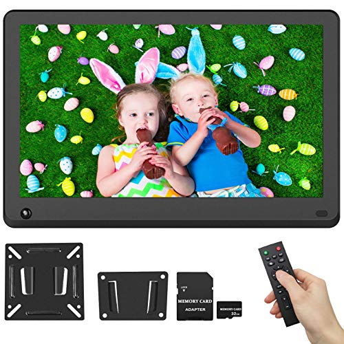 156-Inch-Digital-Picture-Frame-1920x1080-IPS-Screen-169-HD-Video-Frame-Include-32GB-SD-Card-Photo-Auto-Rotate-Background-Music-Auto-Turn-OnOff-Calendar-Breakpoint-Playback-Motion-Sensor