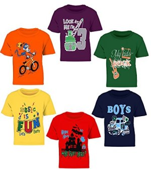 Kiddeo Boys' T-Shirt (Pack of 6)