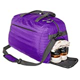 Coreal Sport Gym Bag Duffel Bag with Shoes Compartment for Men and Women Purple