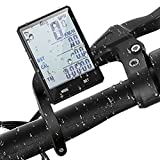 Wireless Bike Speedometer, Bicycle Computer with 2.8 Inch LCD, White Backlight, IPX6 Water Resistant Bicycle Odometer Cycling Accessories