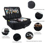 MONSTINA-Large-Capacity-Makeup-Case-3-Layers-Cosmetic-Organizer-Brush-Bag-Makeup-Train-Case-Makeup-Artist-Box-for-Hair-Curler-Hair-Straightener-Brush-Set-and-Cosmetics-165x12x55-L-Black