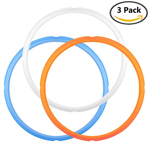 IHUIXINHE-Silicone-Sealing-Ring-for-Instant-Pot-Accessories-Fits-5-or-6-Quart-Models-Orange-Blue-and-Common-Transparent-White-Sweet-and-Savory-Edition-Pack-of-3