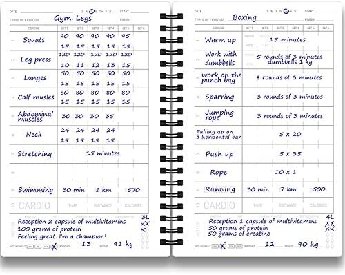 Cossac Fitness Journal & Workout Planner - Designed by Experts Gym Notebook, Workout Tracker,Exercise Log Book for Men Women 5