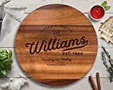 Lazy Susan, Family Name Gifts, Turntable, Lazy Susan for Table, Personalized Wedding Gift, Anniversary Gift, Engraved Lazy Susan, Personalized Cutting Board, Housewarming Gift, Realtor Gifts