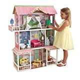 KidKraft Sweet Savannah Wooden Pretend Play Dollhouse with Furniture